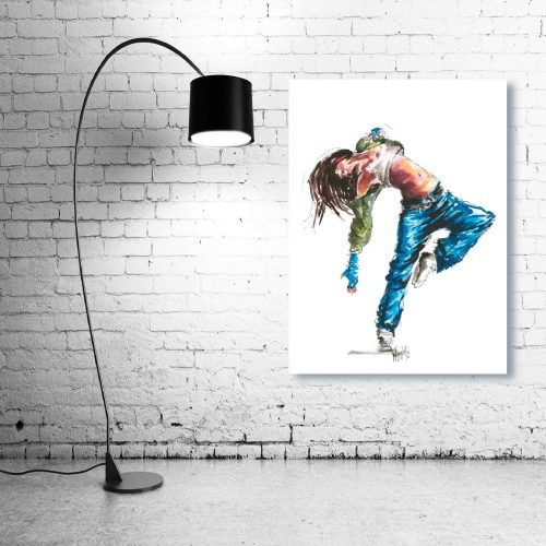 'Street Fever' - Wall Art with Lamp