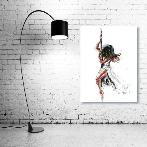 'Poetry In Motion' - Wall Art with Lamp