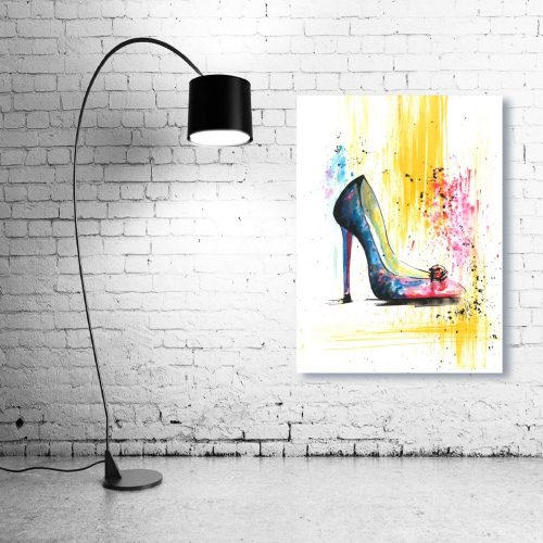 'Rainbow & Rose' Wall Art with Lamp