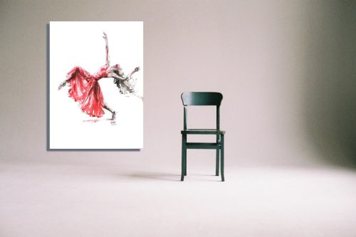 'Let It Flow' - Wall Art with Chair