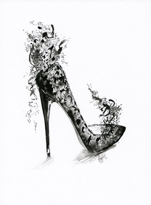 Fantasy Black Lace Stiletto