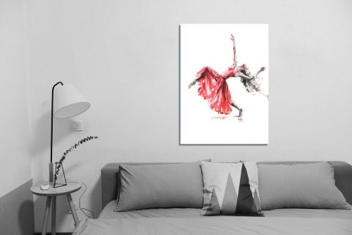 'Let It Flow' - Wall Art with Sofa