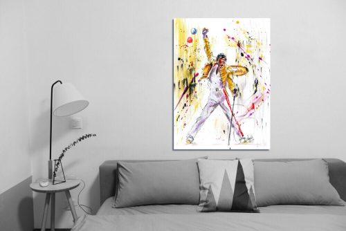 'Freddie Mercury - The Legend' - Framed print with Sofa
