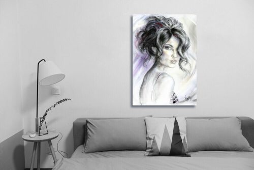 'All Eyes On You' Wall Art with Sofa