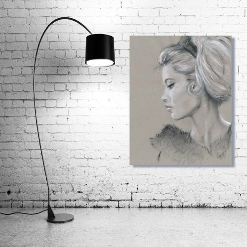 'Brigitte Bardot' Wall Art with Lamp