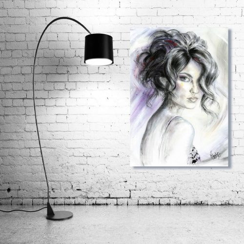 'All Eyes On You' Wall Art with Lamp
