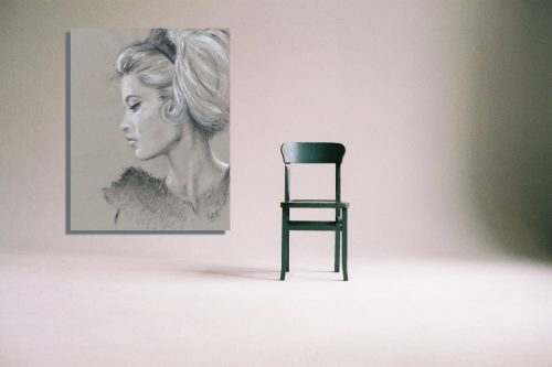 'Brigitte Bardot' Wall Art with Chair