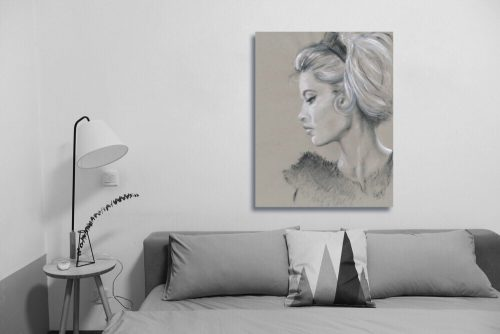 'Brigitte Bardot' Wall Art with Sofa