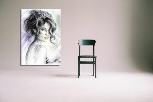 'All Eyes On You' Wall Art with Chair