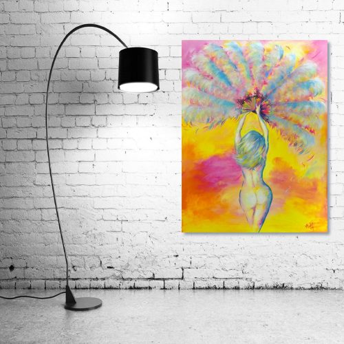 peachy-Wall-Art-with-Lamp