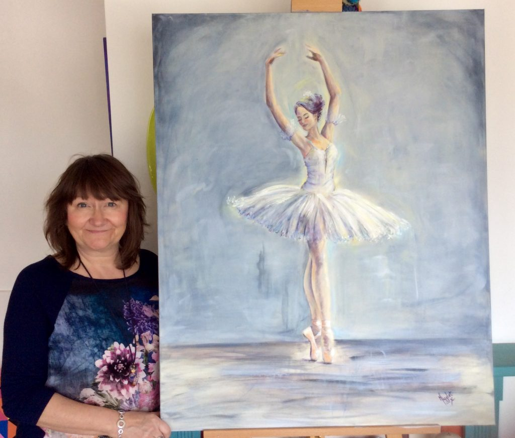 Commissioned Acrylic on Canvas Painting of Ballet Dancer