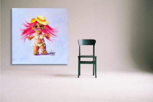 Holly-Day-Troll-Wall-Art-with-Chair