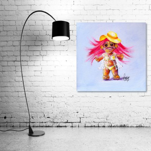Holly-Day-Troll-Wall-Art-with-Lamp