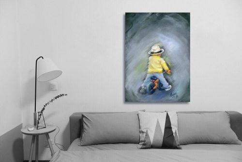 Little Ray of Sunshine Wall Art with Sofa