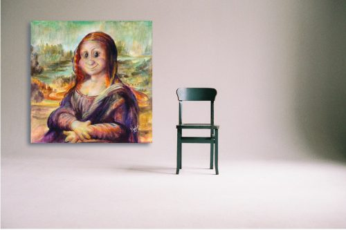 Mona-Lisa-Troll-Wall-Art-with-Chair