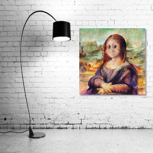 Mona-Lisa-Troll-Wall-Art-with-Lamp
