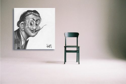 Salvador-Dali-Troll-Wall-Art-with-Chair