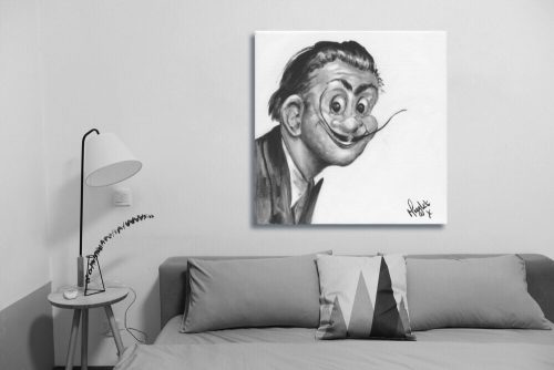 Salvador-Dali-Troll-Wall-Art-with-Sofa