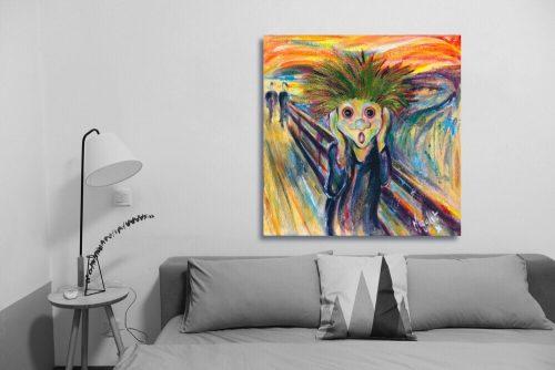 The-Scream-Troll-Wall-Art-with-Sofa