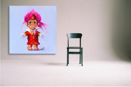 Trolley-Dolly-Troll-Wall-Art-with-Chair