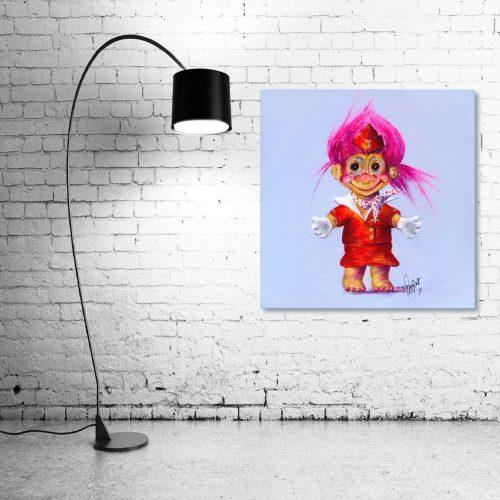 Trolley-Dolly-Troll-Wall-Art-with-Lamp