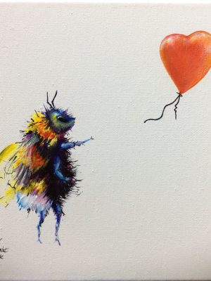 there is always hope bee and balloon painting