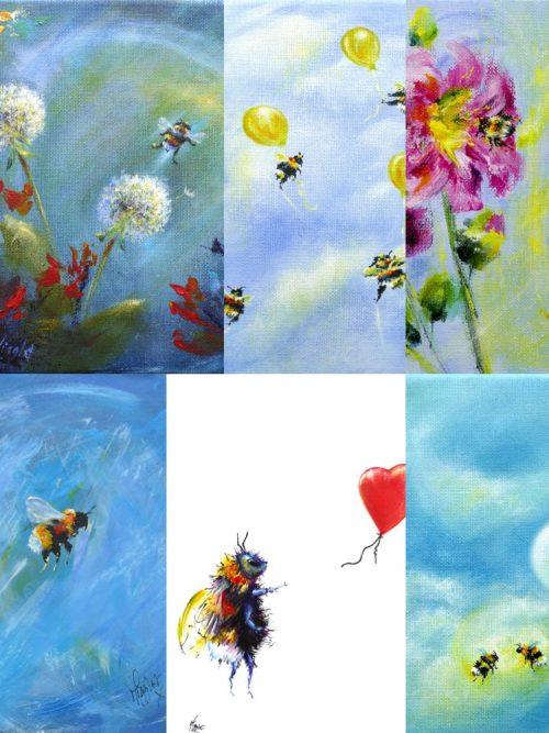 Bee Collage Set C