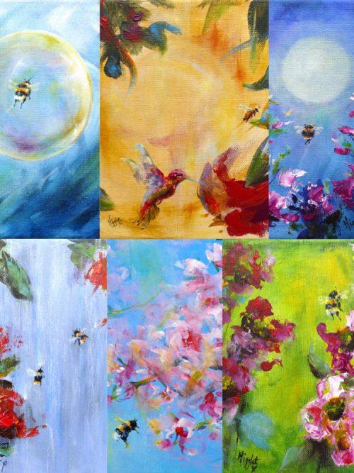 Bee Collage Set B