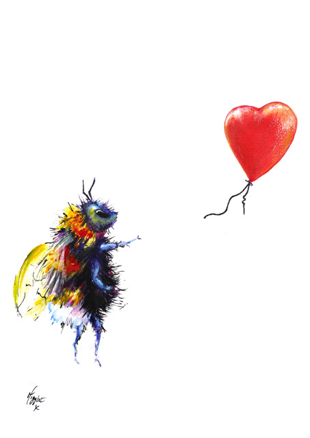 There Is Always Hope Bee With Balloon Painting